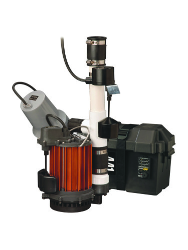 Libert Pumps - Sump Pump, Battery Back-up Combo